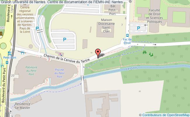 plan association Université De Nantes. Centre De Documentation De L'iemn-iae Nantes