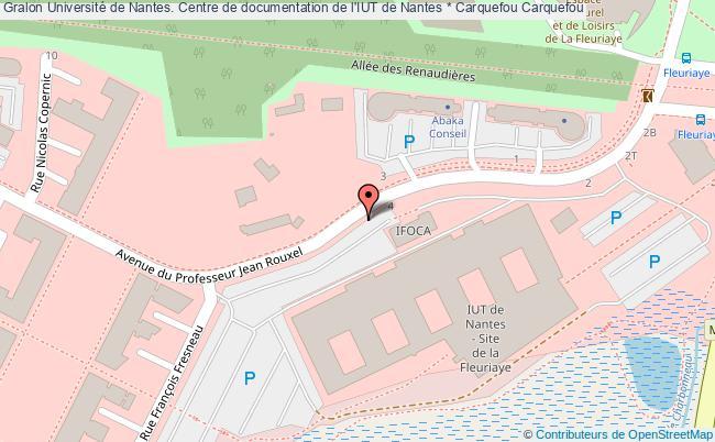 plan association Université De Nantes. Centre De Documentation De L'iut De Nantes * Carquefou Carquefou