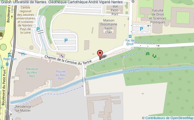 plan association Université De Nantes. Géothèque-cartothèque André Vigarié Nantes