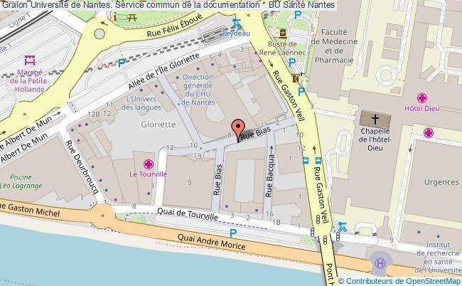 plan association Université De Nantes. Service Commun De La Documentation * Bu Santé Nantes