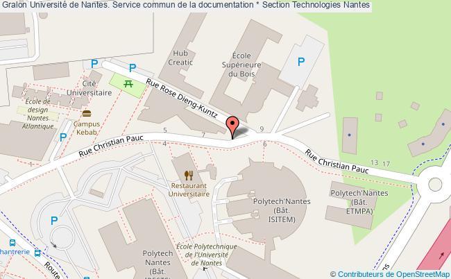 plan association Université De Nantes. Service Commun De La Documentation * Section Technologies Nantes