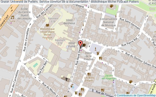 plan association Université De Poitiers. Service Commun De La Documentation * Bibliothèque Michel Foucault Poitiers