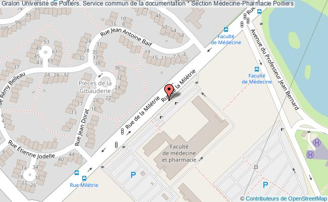 plan association Université De Poitiers. Service Commun De La Documentation * Section Médecine-pharmacie Poitiers