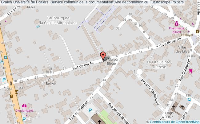 plan association Université De Poitiers. Service Commun De La Documentation*aire De Formation Du Futuroscope Poitiers