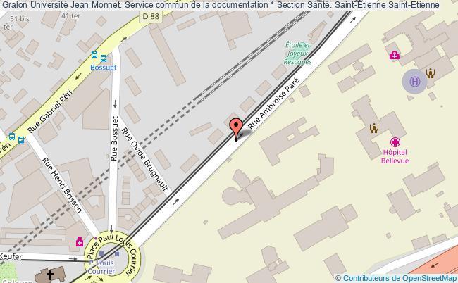 plan association Université Jean Monnet. Service Commun De La Documentation * Section Santé. Saint-etienne Saint-Etienne