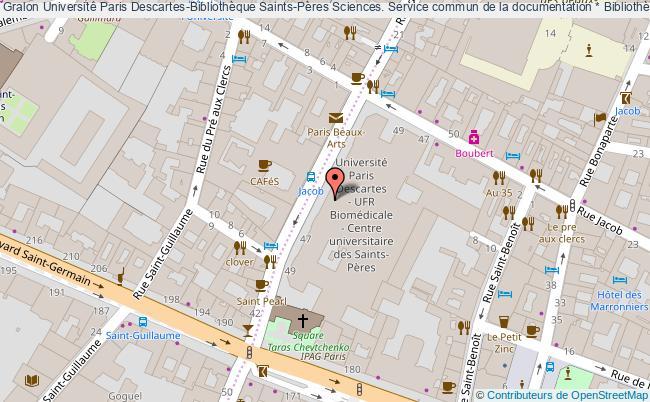plan association Université Paris Descartes-bibliothèque Saints-pères Sciences. Service Commun De La Documentation * Bibliothèque Saints-pères Sciences. Paris * Paris Paris