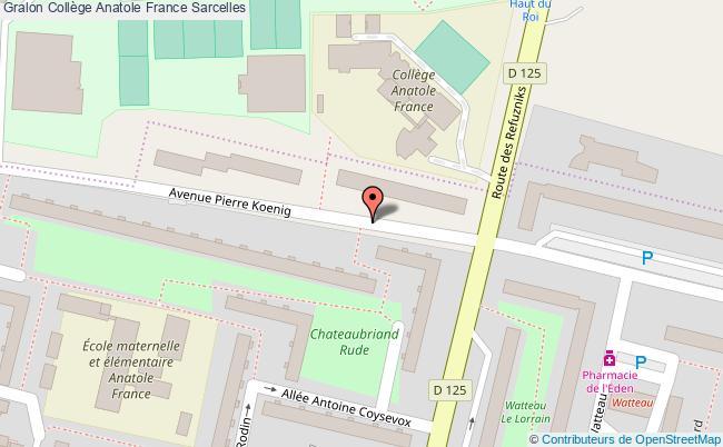 plan Collège Anatole France Sarcelles Sarcelles