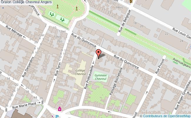 plan Collège Chevreul Angers Angers