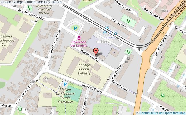 plan Collège Claude Debussy Nantes Nantes