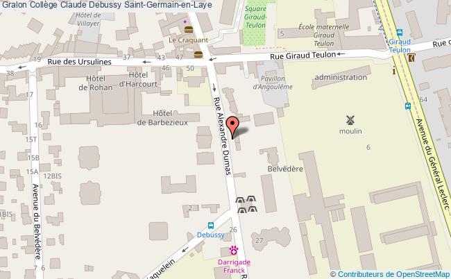 plan Collège Claude Debussy Saint-germain-en-laye Saint-Germain-en-Laye