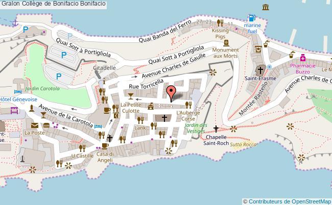 plan Collège De Bonifacio Bonifacio Bonifacio