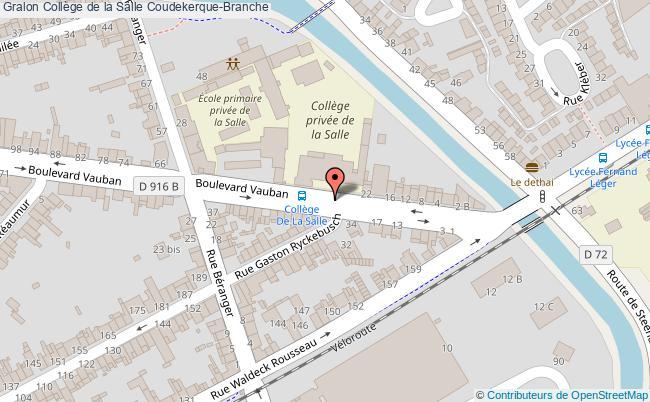 plan Collège De La Salle Coudekerque-branche Coudekerque-Branche