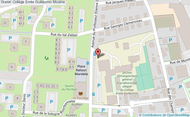 plan Collège Emile Guillaumin Moulins Moulins