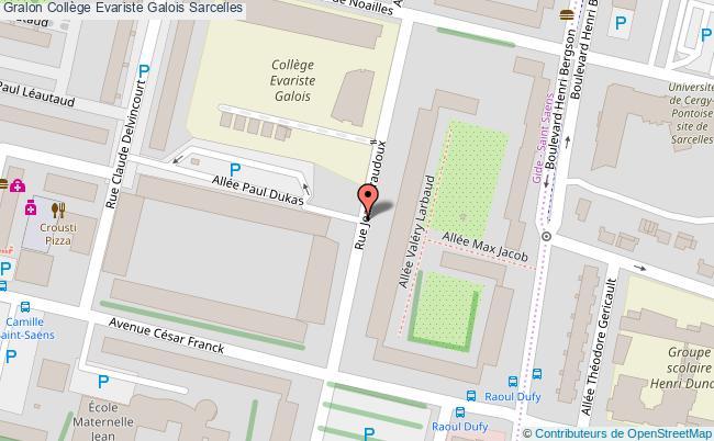 plan Collège Evariste Galois Sarcelles Sarcelles