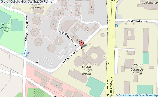 plan Collège Georges Braque Reims Reims