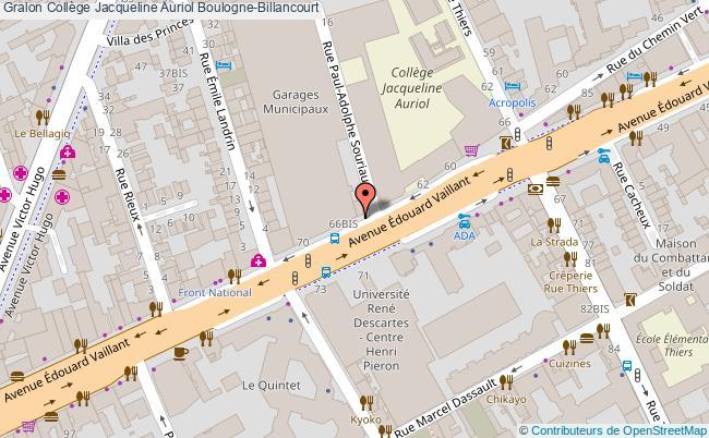 plan Collège Jacqueline Auriol Boulogne-billancourt Boulogne-Billancourt