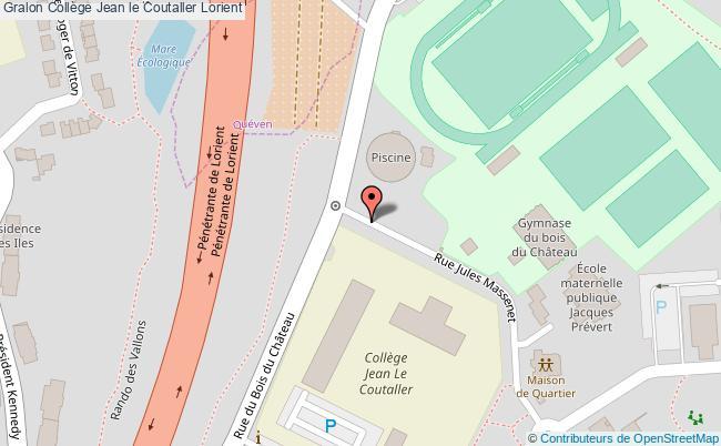 plan Collège Jean Le Coutaller Lorient Lorient