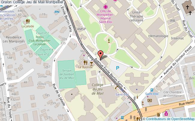 plan Collège Jeu De Mail Montpellier Montpellier