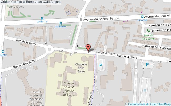 plan Collège La Barre Jean Xxiii Angers Angers