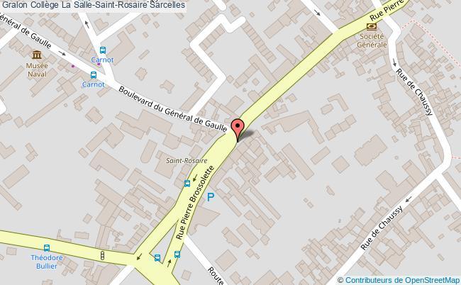 plan Collège La Salle-saint-rosaire Sarcelles Sarcelles