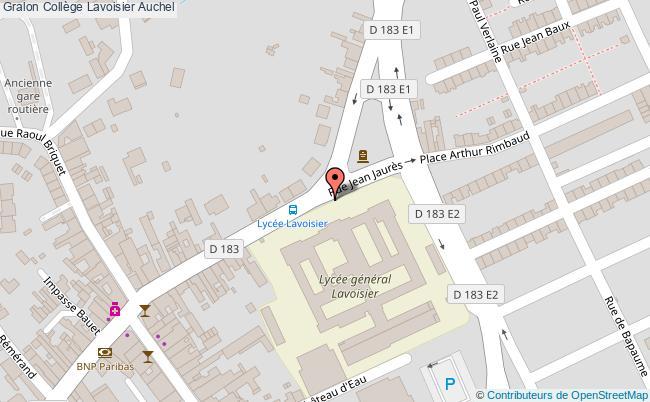 plan Collège Lavoisier Auchel Auchel