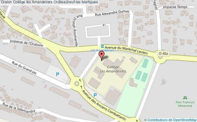 plan Collège Les Amandeirets Châteauneuf-les-martigues Châteauneuf-les-Martigues
