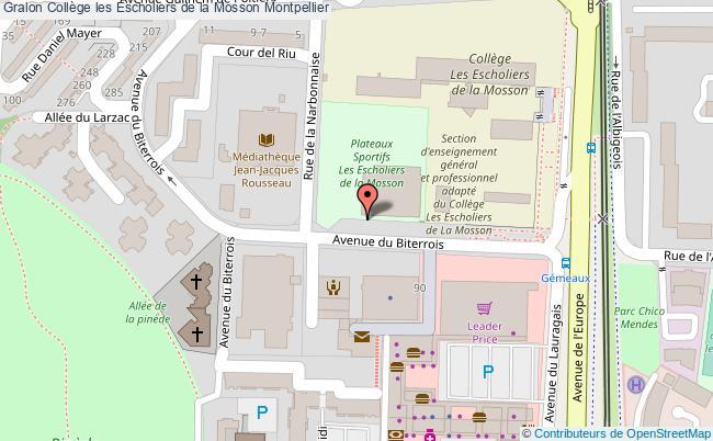 plan Collège Les Escholiers De La Mosson Montpellier Montpellier
