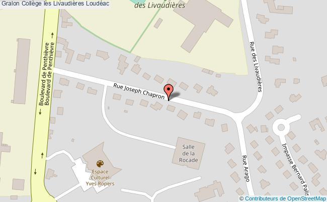 plan Collège Les Livaudières Loudéac Loudéac