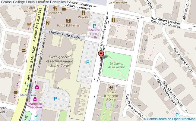 plan Collège Louis Lumière Échirolles Échirolles