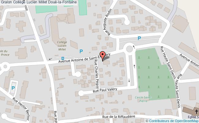 plan Collège Lucien Millet Doué-la-fontaine Doué-la-Fontaine