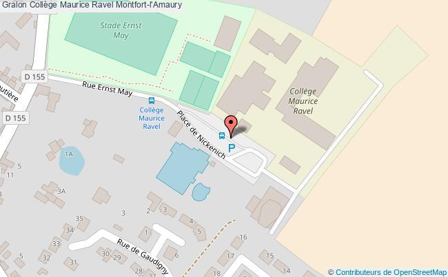 plan Collège Maurice Ravel Montfort-l'amaury Montfort-l'Amaury