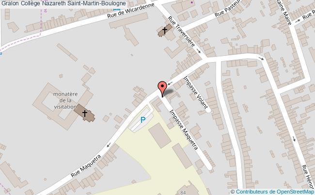 plan Collège Nazareth Saint-martin-boulogne Saint-Martin-Boulogne
