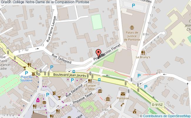 plan Collège Notre-dame De La Compassion Pontoise Pontoise
