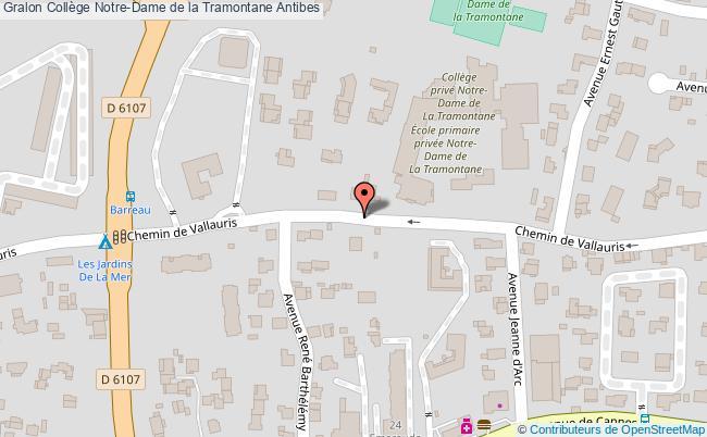 plan Collège Notre-dame De La Tramontane Antibes Antibes
