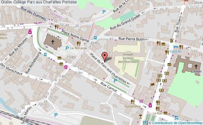 plan Collège Parc Aux Charrettes Pontoise Pontoise