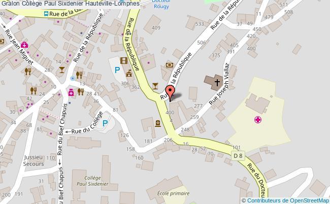 plan Collège Paul Sixdenier Hauteville-lompnes Hauteville-Lompnes