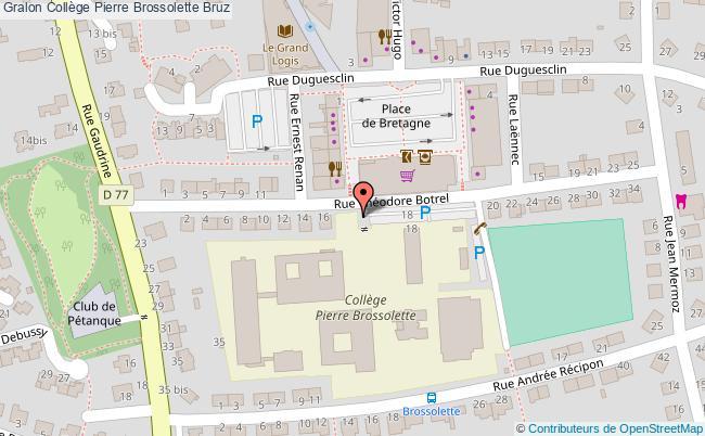 plan Collège Pierre Brossolette Bruz Bruz