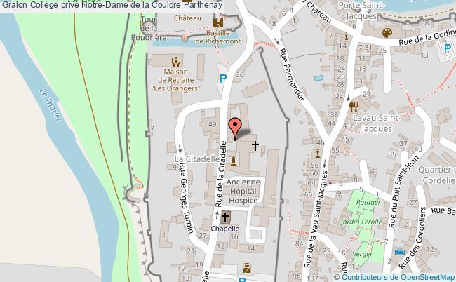 plan Collège Privé Notre-dame De La Couldre Parthenay Parthenay