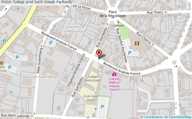 plan Collège Privé Saint-joseph Parthenay Parthenay