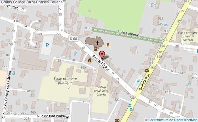 plan Collège Saint-charles Feillens Feillens
