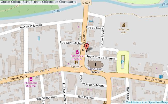 plan Collège Saint-etienne Châlons-en-champagne Châlons-en-Champagne