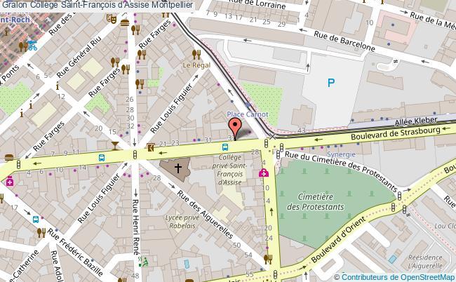 plan Collège Saint-françois D'assise Montpellier Montpellier