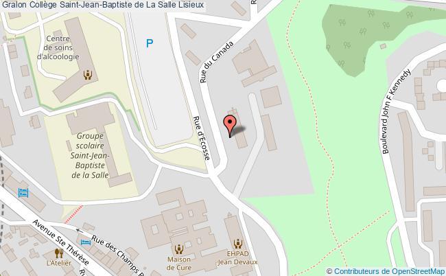 plan Collège Saint-jean-baptiste De La Salle Lisieux Lisieux