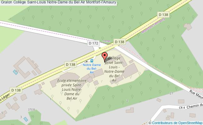plan Collège Saint-louis Notre-dame Du Bel Air Montfort-l'amaury Montfort-l'Amaury