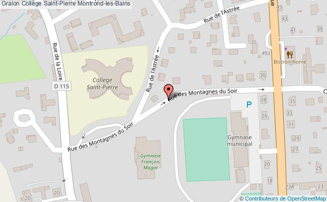 plan Collège Saint-pierre Montrond-les-bains Montrond-les-Bains