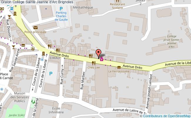 plan Collège Sainte Jeanne D'arc Brignoles Brignoles