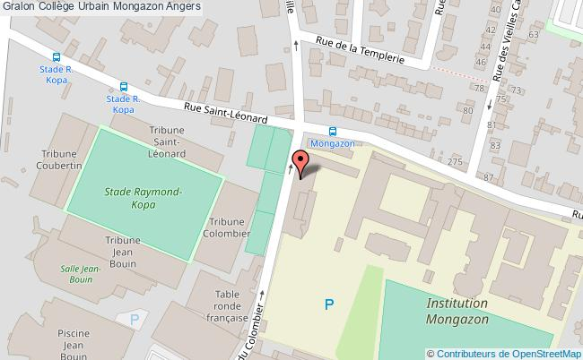 plan Collège Urbain Mongazon Angers Angers