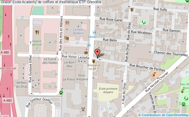 plan Ecole Academy De Coiffure Et D'esthétique Etp Grenoble Grenoble