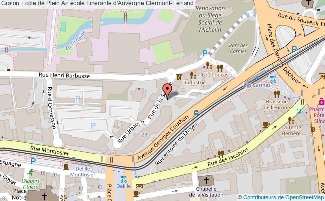 plan École De Plein Air école Itinerante D'auvergne Clermont-ferrand Clermont-Ferrand
