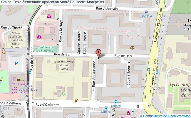 plan École élémentaire Application André Boulloche Montpellier Montpellier